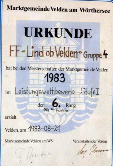 1983 gemeindemeisterschaft