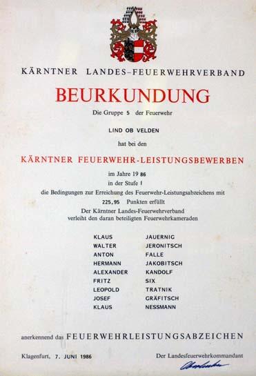 1986 stufe 1